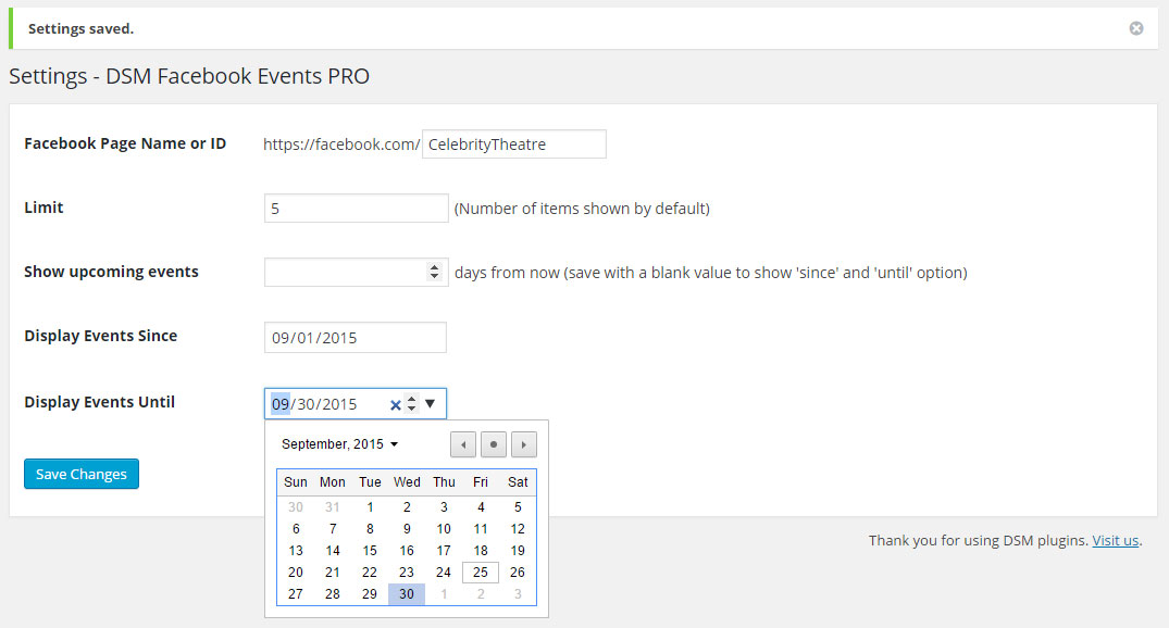 display-fb-events-on-website-wordpress-plugin-settings