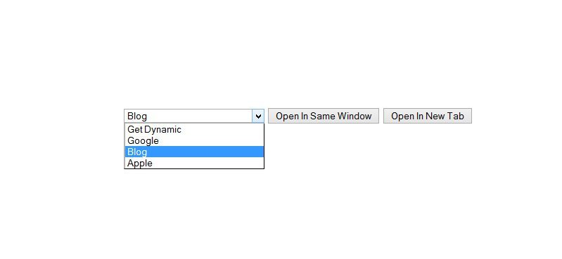 jquery redirect page onclick event new or same window