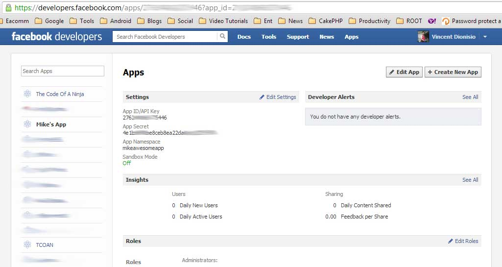 How To Get Facebook App ID and Secret Keys?