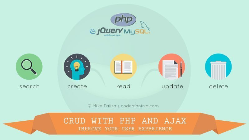 CRUD with jQuery and PHP – Step By Step Guide