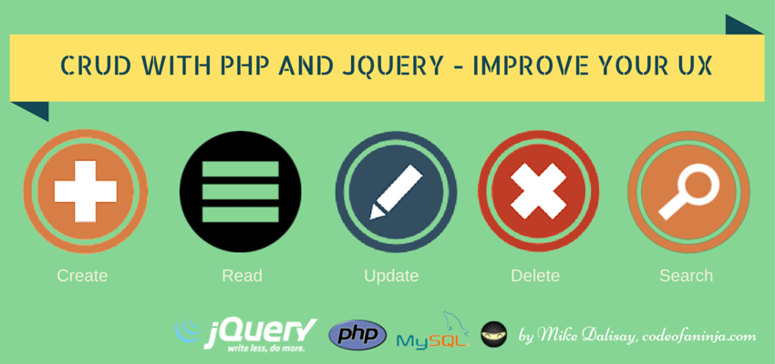 CRUD with jQuery and PHP to Improve UX – Step By Step Guide