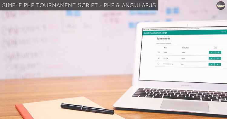 simple php tournament script angularjs