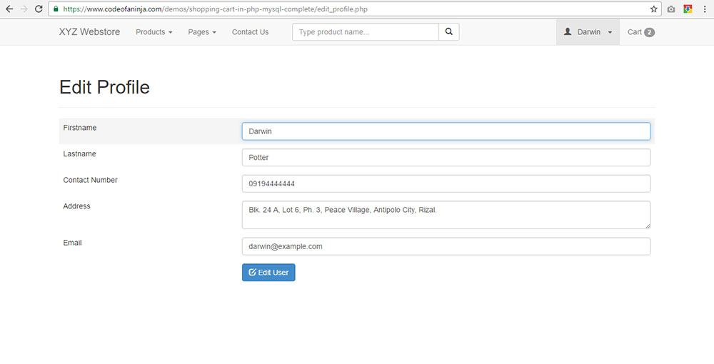 php online shopping cart source code download Profile.php Viewas 100000686899395 Profile.php #13