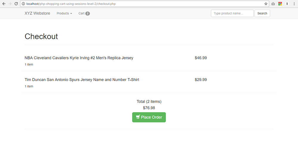 PHP Shopping Cart Tutorial Using SESSIONS - Step By Step Guide!